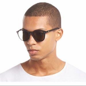 Le Specs Bandwagon Black Rubber Midsize Sunglasses